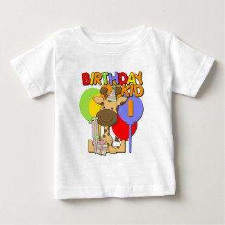 Giraffe 1st Birthday Baby T-Shirt