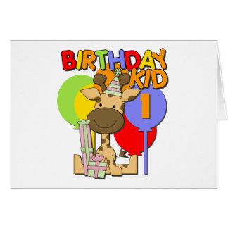 Giraffe 1st Birthday Card