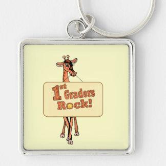 "Giraffe ""1st Graders Rock"" Design Keychain"