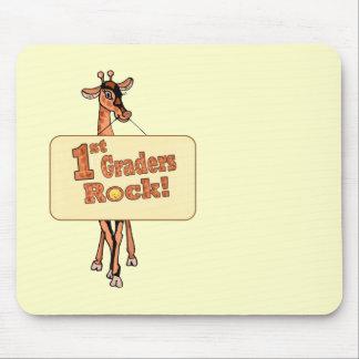 "Giraffe ""1st Graders Rock"" Design Mouse Pad"