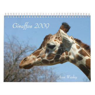 Giraffe 2009 Calendar