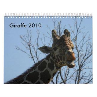 Giraffe 2010 calendars