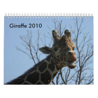 Giraffe 2010 calendar