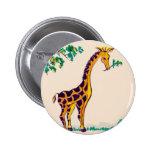 Giraffe 2 Inch Round Button