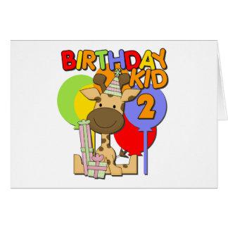 Giraffe 2nd Birthday Card