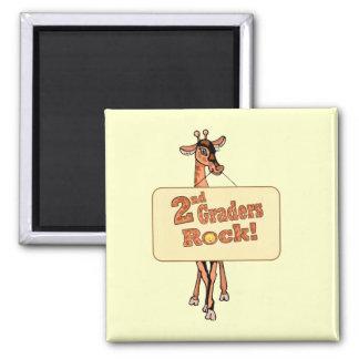 """Giraffe """"2nd Graders Rock"""" Design Magnet"""