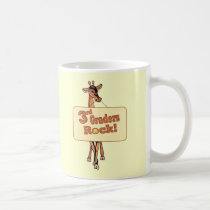 "Giraffe ""3rd Graders Rock"" Design Coffee Mug"