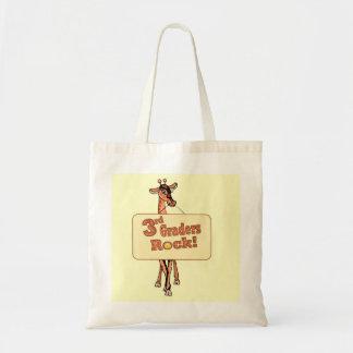 """Giraffe """"3rd Graders Rock"""" Design Tote Bag"""