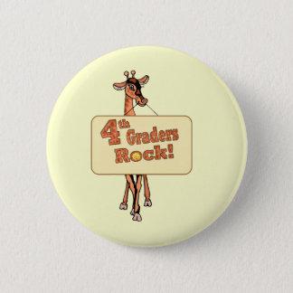 "Giraffe ""4th Graders Rock"" Design Pinback Button"