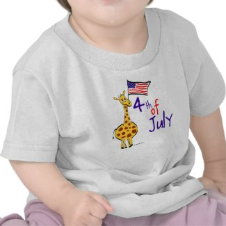 Giraffe 4th of July Tees