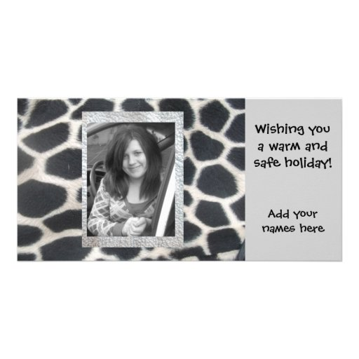 """Giraffe """"Add your photo"""" Christmas holiday cards Photo Cards"""