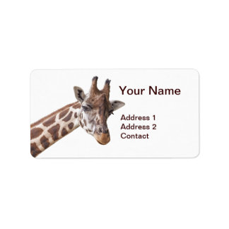 Giraffe - Address Label