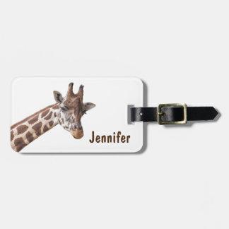Giraffe - Address Luggage Tag