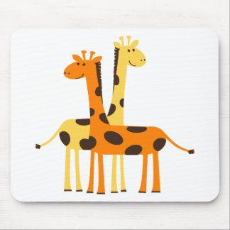 giraffe africa safari wildlife mouse pad