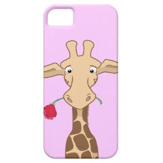 Giraffe and a Rose iPhone SE/5/5s Case