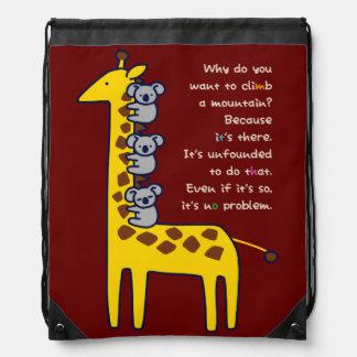 < Giraffe and adhering koala (for hyperchromic Drawstring Backpack