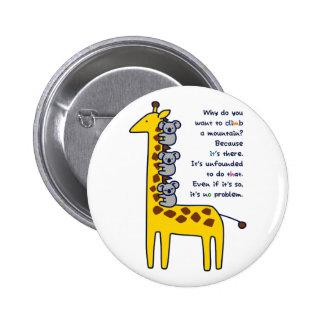 < Giraffe and adhering koala (for light-colored Pinback Button