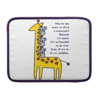 < Giraffe and adhering koala (for light-colored Sleeve For MacBook Air