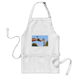 Giraffe and baby adult apron
