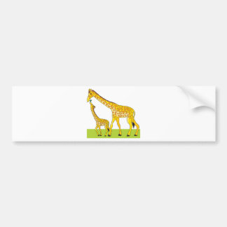 Giraffe and Baby Bumper Sticker