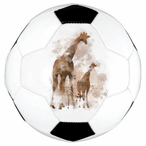 giraffe and baby soccerball soccer ball zazzle