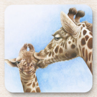 Giraffe and Calf Cork Coaster
