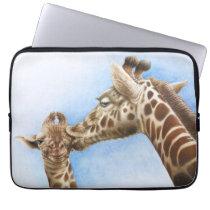 Giraffe and Calf Electronics Bag