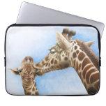 Giraffe and Calf Electronics Bag Laptop Computer Sleeves