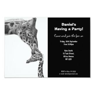 Giraffe and Calf Party Invitation