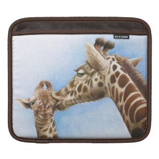 Giraffe and Calf Rickshaw Sleeve iPad Sleeve