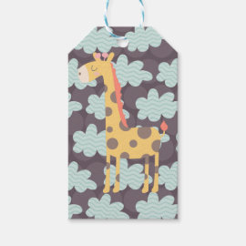 Giraffe and Clouds Gift Tags