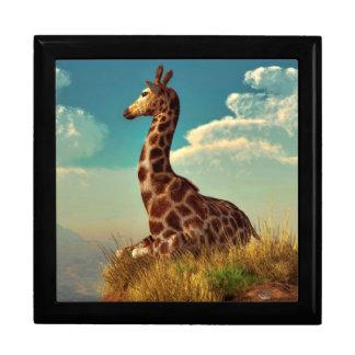 Giraffe and Distant Mountain Keepsake Boxes