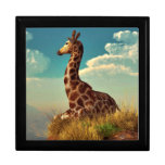 Giraffe and Distant Mountain Keepsake Boxes