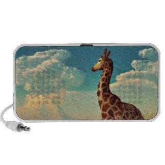 Giraffe and Distant Mountain Mini Speakers