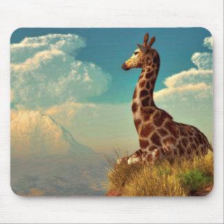 Giraffe and Distant Mountain Mousepad