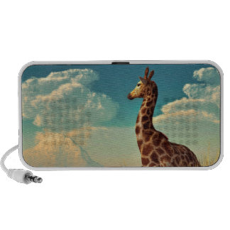 Giraffe and Distant Mountain Portable Speakers