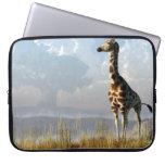 Giraffe and Giant Baobab Laptop Sleeves