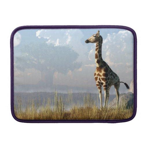 Giraffe and Giant Baobab MacBook Air Sleeve