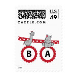 Giraffe and Hippo Banner Postage Stamps