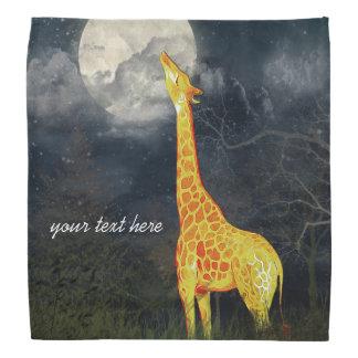 Giraffe and Moon | Custom Bandana