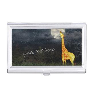 Giraffe and Moon   Custom Business Card Holder