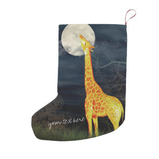 Giraffe and Moon | Custom Christmas Stocking