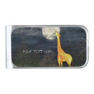 Giraffe and Moon   Custom Money Clip