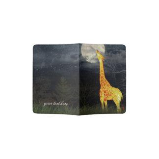 Giraffe and Moon | Custom Passport Holder / Cover