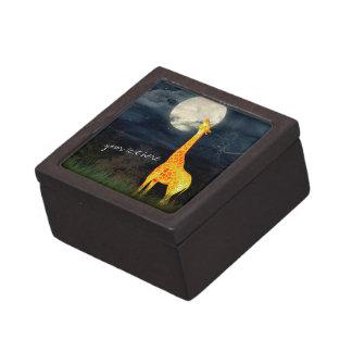 Giraffe and Moon   Custom Personalized Gift Box
