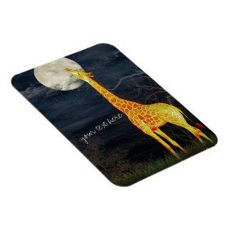 Giraffe and Moon | Custom Photo Magnet