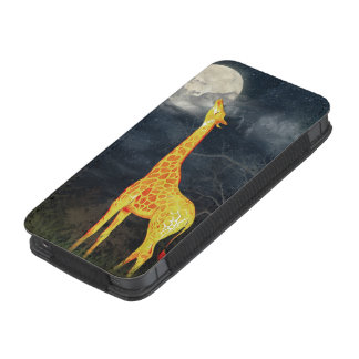 Giraffe and Moon   iPhone 5 Samsung Galaxy Pouch iPhone 5 Pouch