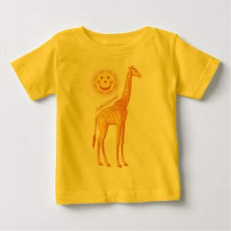 Giraffe and Sun with Fellow Creatures Logo Baby T-Shirt