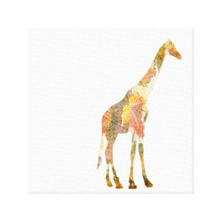 Giraffe and the leaves Canvas