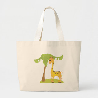 Giraffe and Tree Jumbo Tote Bag